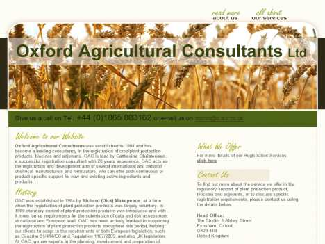 o-a-c.co.uk | Oxford Agriculture Consultant Ltd Official Website
